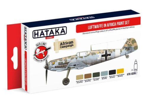 HATAKA Red Line Set (6 pcs) Luftwaffe in Africa paint set HTK-AS06.2