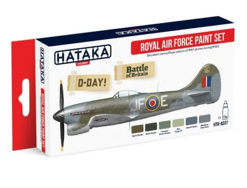 HATAKA Red Line Set (6 pcs) Royal Air Force paint set HTK-AS07