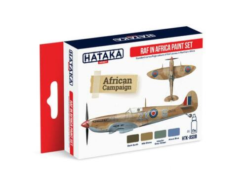 HATAKA Red Line Set (4 pcs) RAF in Africa paint set HTK-AS08