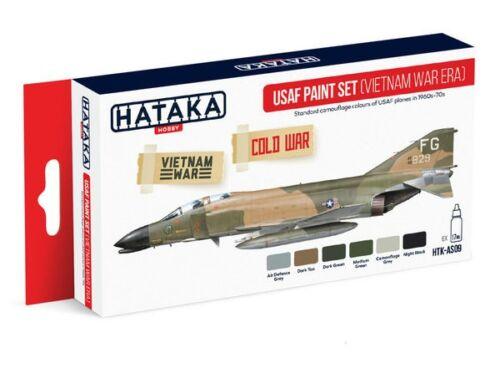 HATAKA Red Line Set (6 pcs) USAF Paint Set (Vietnam war-era) HTK-AS09