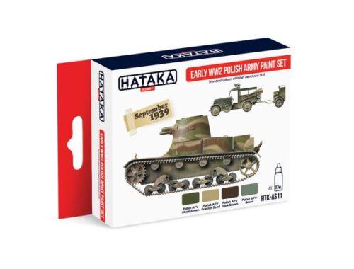 HATAKA Red Line Set (4 pcs) Early WW2 Polish Army paint set HTK-AS11