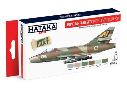 HATAKA Red Line Set (6 pcs) Israeli AF paint set (1970's desert colours) HTK-AS12