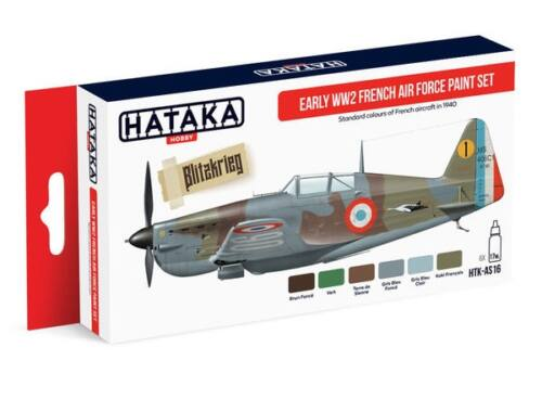 HATAKA Red Line Set (6 pcs) Early WW2 French Air Force paint set HTK-AS16