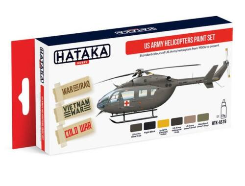 HATAKA Red Line Set (6 pcs) US Army Helicopters paint set HTK-AS19