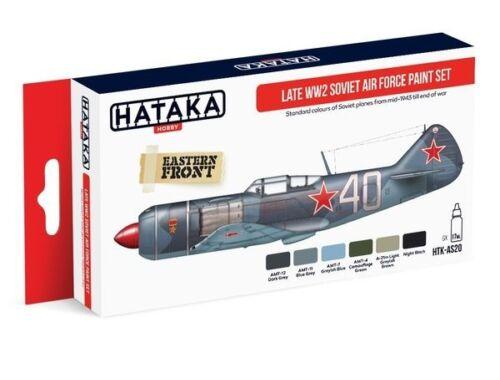 HATAKA Red Line Set (6 pcs) Late WW2 Soviet Air Force paint set HTK-AS20