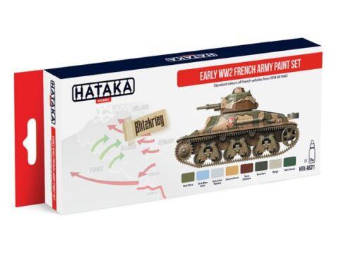 HATAKA Red Line Set (8 pcs) Early WW2 French Army paint set HTK-AS21