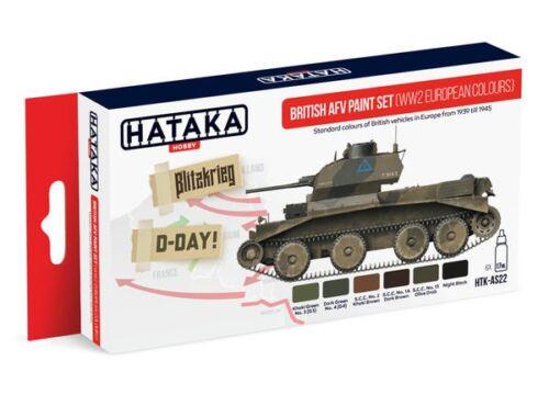 HATAKA Red Line Set (6 pcs) British AFV paint set (WW2 European colours) HTK-AS22