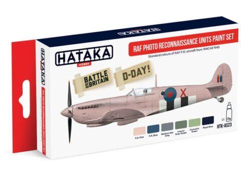 HATAKA Red Line Set (6 pcs) RAF Photo Reconnaissance Units paint set HTK-AS23