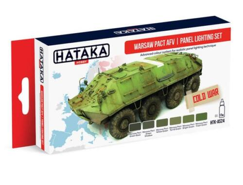 HATAKA Red Line Set (6 pcs) Warsaw Pact AFV panel lighting set HTK-AS24
