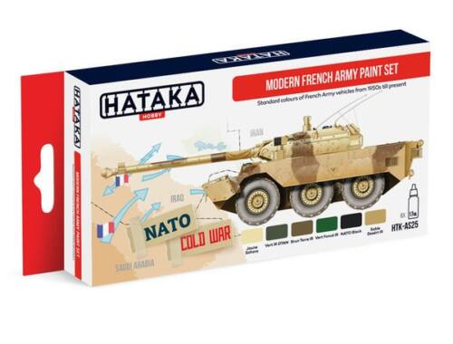 HATAKA Red Line Set (6 pcs) Modern French Army paint set HTK-AS25