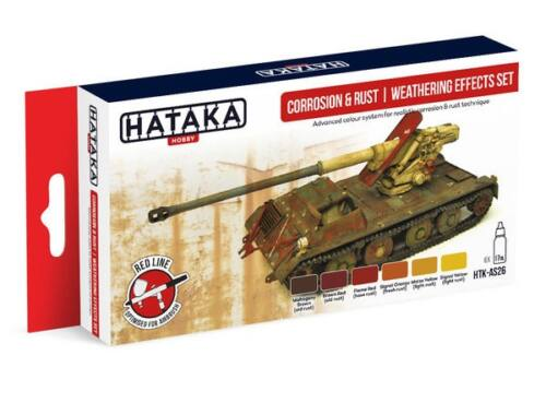 HATAKA Red Line Set (6 pcs) Corrosion   rust weathering effects set HTK-AS26