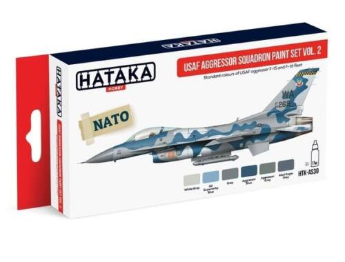 HATAKA Red Line Set (6 pcs) USAF Aggressor Squadron paint set vol. 2 HTK-AS30