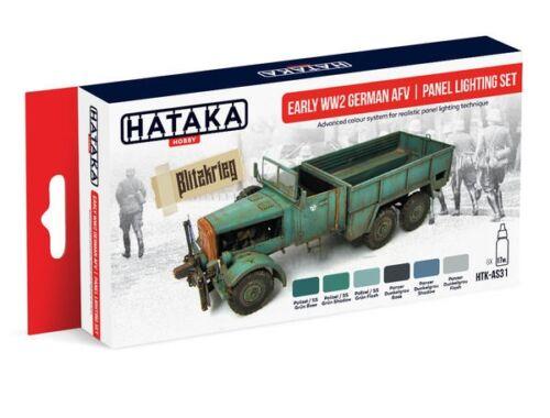 HATAKA Red Line Set (6 pcs) Early WW2 German AFV panel lighting set HTK-AS31