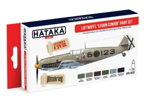 HATAKA Red Line Set (6 pcs) Luftwaffe Legion Condor paint set HTK-AS32