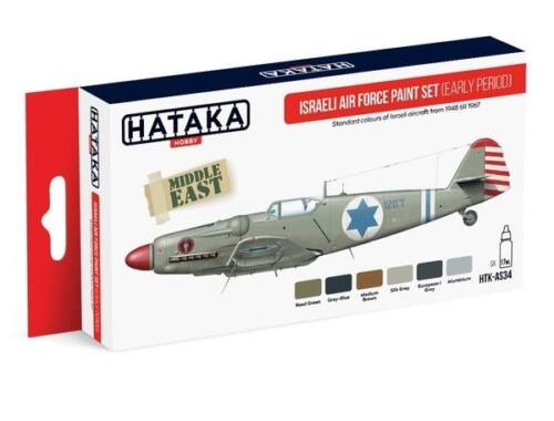 HATAKA Red Line Set (6 pcs) Israeli Air Force paint set (early period) HTK-AS34