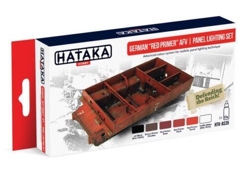 HATAKA Red Line Set (6 pcs) German Red Primer AFV panel lighting set HTK-AS35
