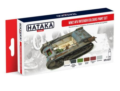 HATAKA Red Line Set (6 pcs) WW2 AFV Interior Colours paint set HTK-AS37