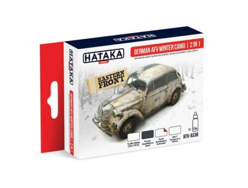 HATAKA Red Line Set (4 pcs) German AFV Winter Camo 2 in 1 HTK-AS38