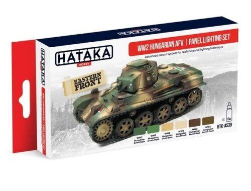 HATAKA Red Line Set (6 pcs) WW2 Hungarian AFV panel lighting set HTK-AS39