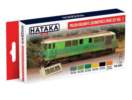 HATAKA Red Line Set (6 pcs) Polish Railways locomotives paint set vol. 1 HTK-AS40