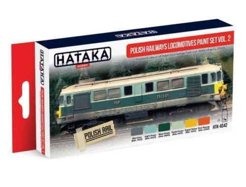HATAKA Red Line Set (6 pcs) Polish Railways locomotives paint set vol. 2 HTK-AS42