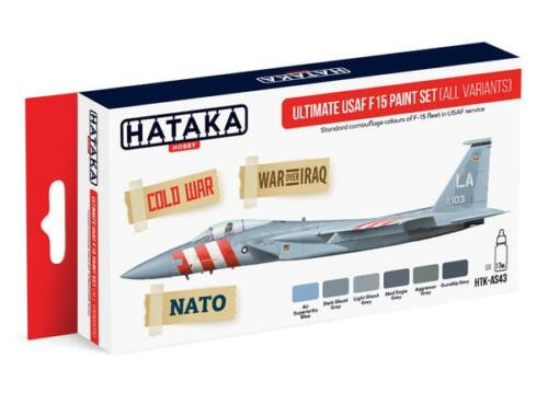 HATAKA Red Line Set (6 pcs) Ultimate USAF F15 paint set (all variants) HTK-AS43