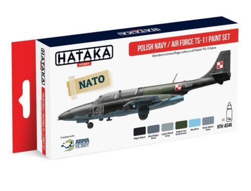 HATAKA Red Line Set (6 pcs) Polish Navy / Air Force TS-11 paint set HTK-AS46
