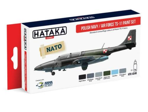 HATAKA Red Line Set (6 pcs) Polish Navy / Air Force TS-11 paint set HTK-AS46