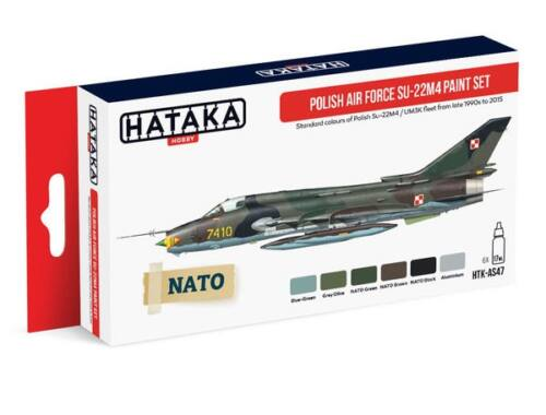 HATAKA Red Line Set (6 pcs) Polish Air Force Su-22M4 paint set HTK-AS47