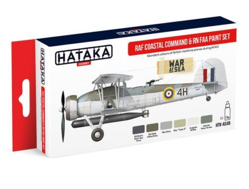 HATAKA Red Line Set (6 pcs) RAF Coastal Command   RN FAA paint set HTK-AS49