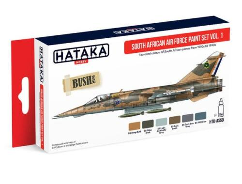 HATAKA Red Line Set (6 pcs) South African Air Force paint set vol. 1 HTK-AS50