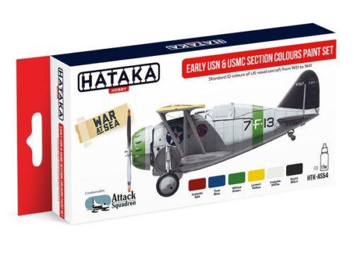 HATAKA Red Line Set (6 pcs) Early USN   USMC Section Colours paint set HTK-AS54