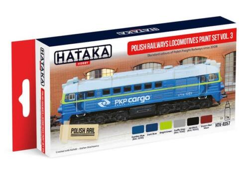 HATAKA Red Line Set (6 pcs) Polish Railways locomotives paint set vol. 3 HTK-AS57