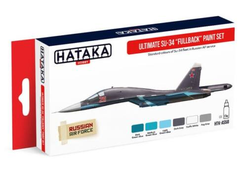 HATAKA Red Line Set (6 pcs) Ultimate Su-34 Fullback paint set HTK-AS58