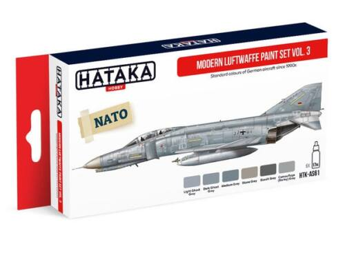 HATAKA Red Line Set (6 pcs) Modern Luftwaffe paint set vol. 3 HTK-AS61