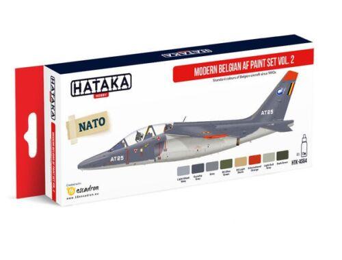 HATAKA Red Line Set (8 pcs) Modern Belgian AF paint set vol. 2 HTK-AS64