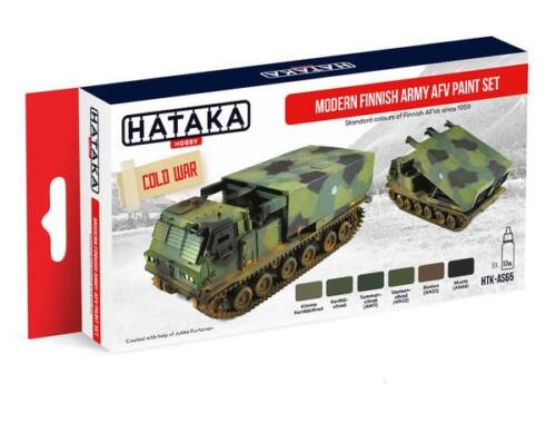 HATAKA Red Line Set (6 pcs) Modern Finnish Army AFV paint set HTK-AS65