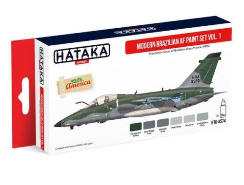 HATAKA Red Line Set (6 pcs) Modern Brazilian AF paint set vol. 1 HTK-AS74