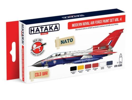 HATAKA Red Line Set (6 pcs) Modern Royal Air Force paint set vol. 4 HTK-AS85
