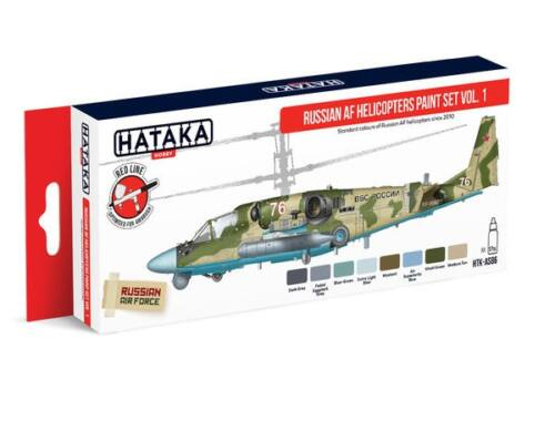 HATAKA Red Line Set (8 pcs) Russian AF Helicopters paint set vol. 1 HTK-AS86