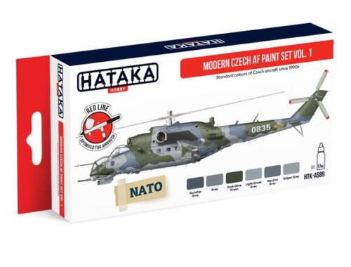 HATAKA Red Line Set (6 pcs) Modern Czech AF paint set vol. 1 HTK-AS89