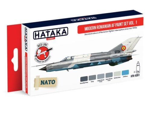 HATAKA Red Line Set (6 pcs) Modern Romanian AF paint set vol. 1 HTK-AS91