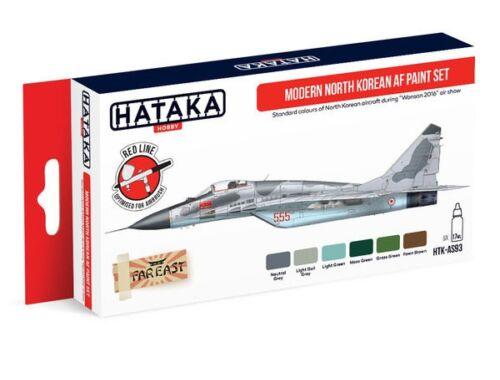 HATAKA Red Line Set (6 pcs) Modern North Korean AF paint set HTK-AS93