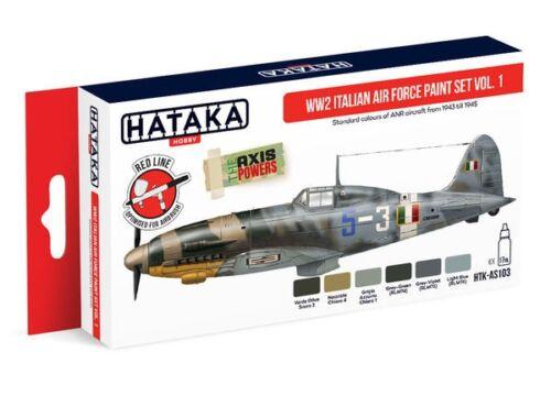 HATAKA Red Line Set (6 pcs) WW2 Italian Air Force Paint set vol. 1 HTK-AS103