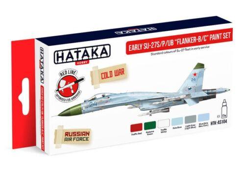HATAKA Red Line Set (6 pcs) Early Su-27S/P/UB Flanker-B/C paint set HTK-AS104