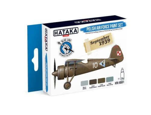HATAKA Blue Line Set (4 pcs) Polish Air Force paint set HTK-BS01
