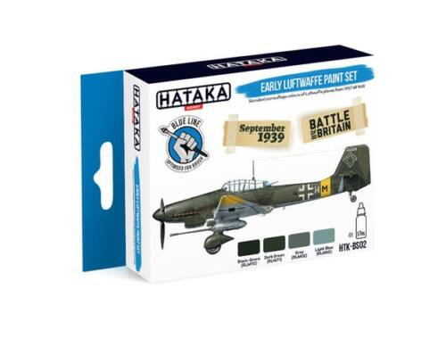 HATAKA Blue Line Set (4 pcs) Early Luftwaffe paint set HTK-BS02