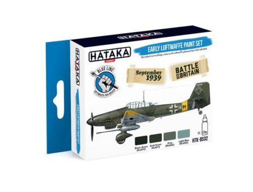 HATAKA Blue Line Set (4 pcs) Early Luftwaffe paint set HTK-BS02