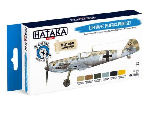 HATAKA Blue Line Set (6 pcs) Luftwaffe in Africa paint set HTK-BS06.2