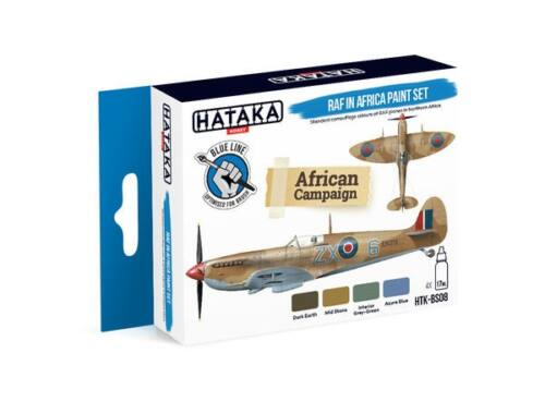 HATAKA Blue Line Set (4 pcs) RAF in Africa paint set HTK-BS08
